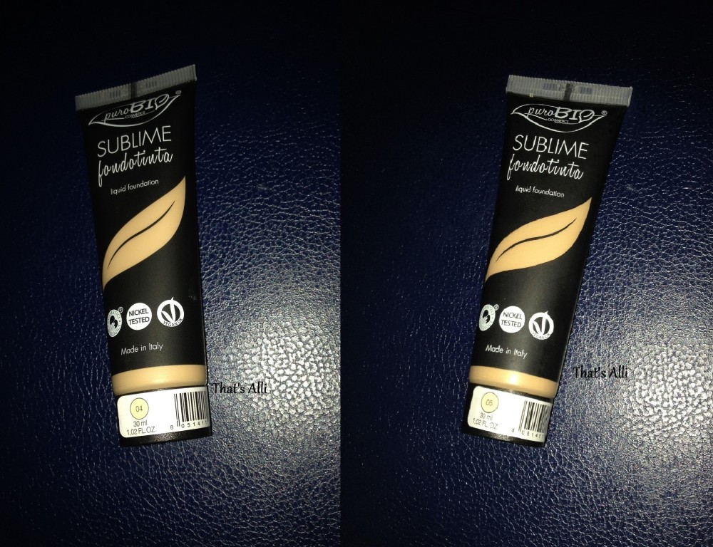 Pure Bio Sublime Foundation|||Review